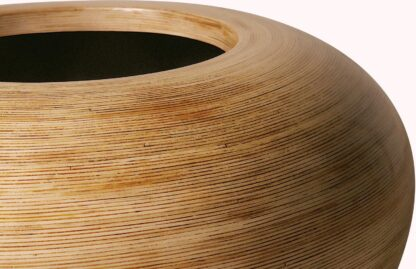 Lacquered Wicker Ring Planter 60x26cm Lifestyle1