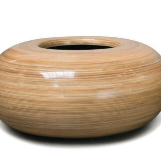 Lacquered Wicker Ring Planter 60x26cm squared picture