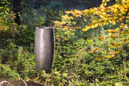 Metallic Crackle Conical Planter 38x70cm Lifestyle3