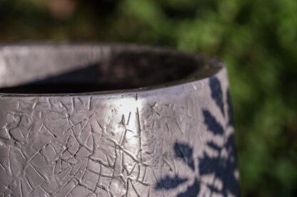 Metallic Crackle Conical Planter 50x120cm Lifestyle2