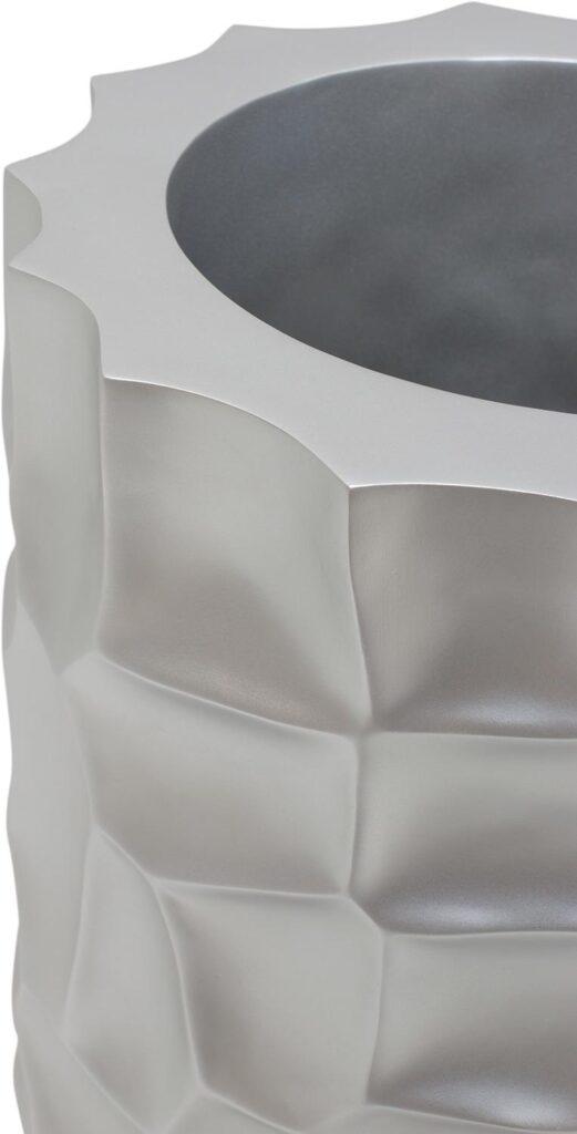 Mosaic Column Planter Metallic Silver 32x90cm Lifestyle1