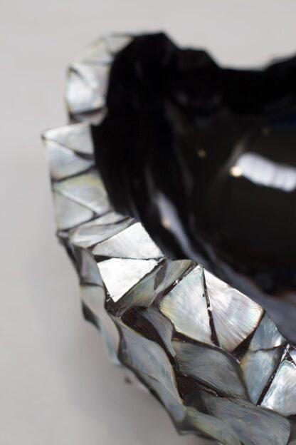 Shell Asymmetric Bowl Planter Silver-Blue 40x24cm Lifestyle1