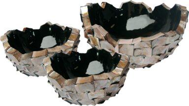 Shell Asymmetric Bowl Planters 3 Sizes