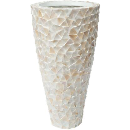 Shell Conical Planter White 74x74x140cm