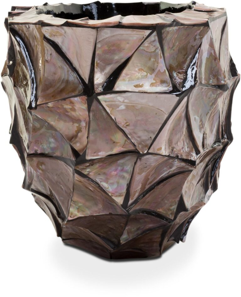Shell Oval Planter Brown 60x26x30cm Lifestyle2
