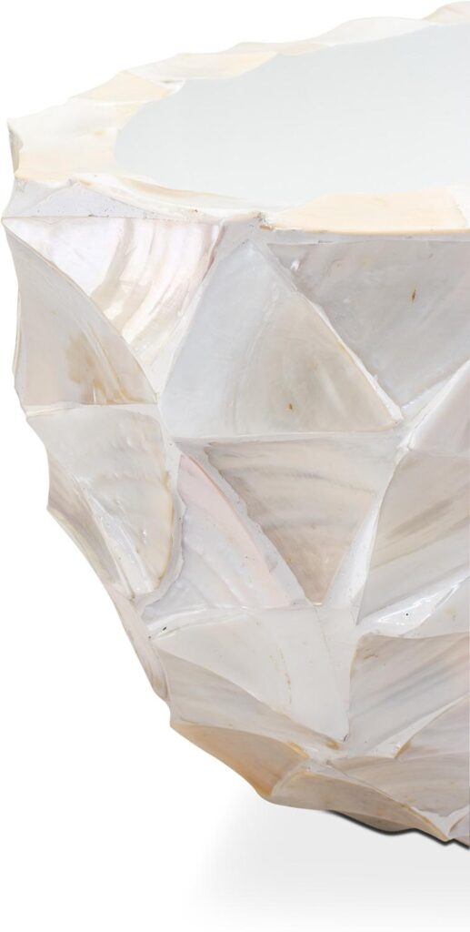 Shell Oval Planters White 60x26x30cm Lifestyle1
