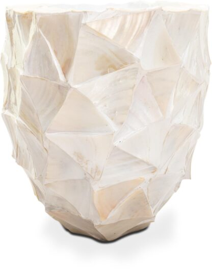 Shell Oval Planters White 60x26x30cm Lifestyle2
