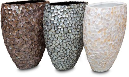 Shell Pinched Bowl Planter 3 Colours