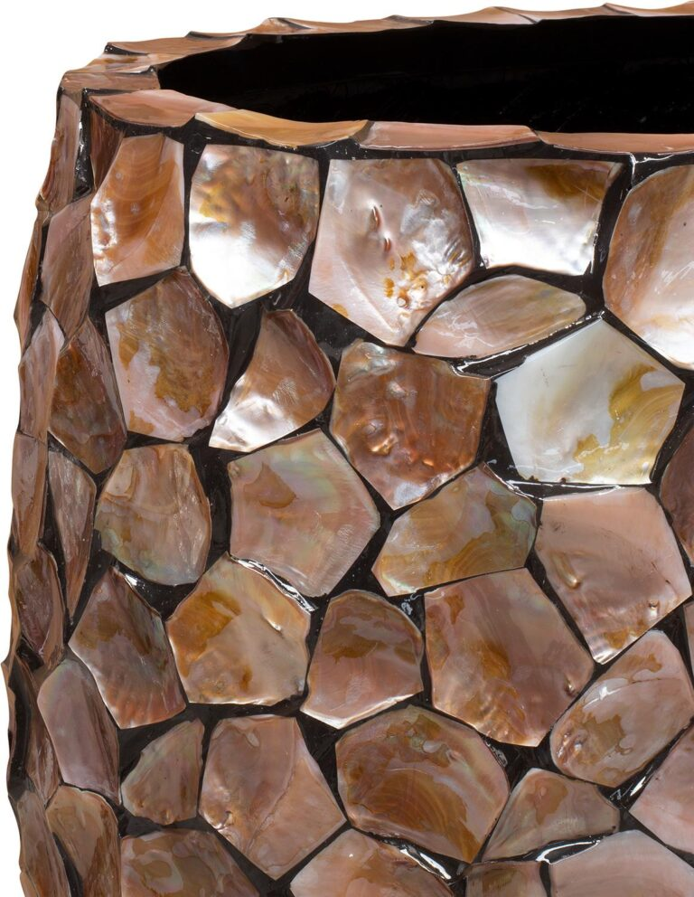 Shell Pinched Bowl Planter Brown 90x40x100cm Lifestyle3