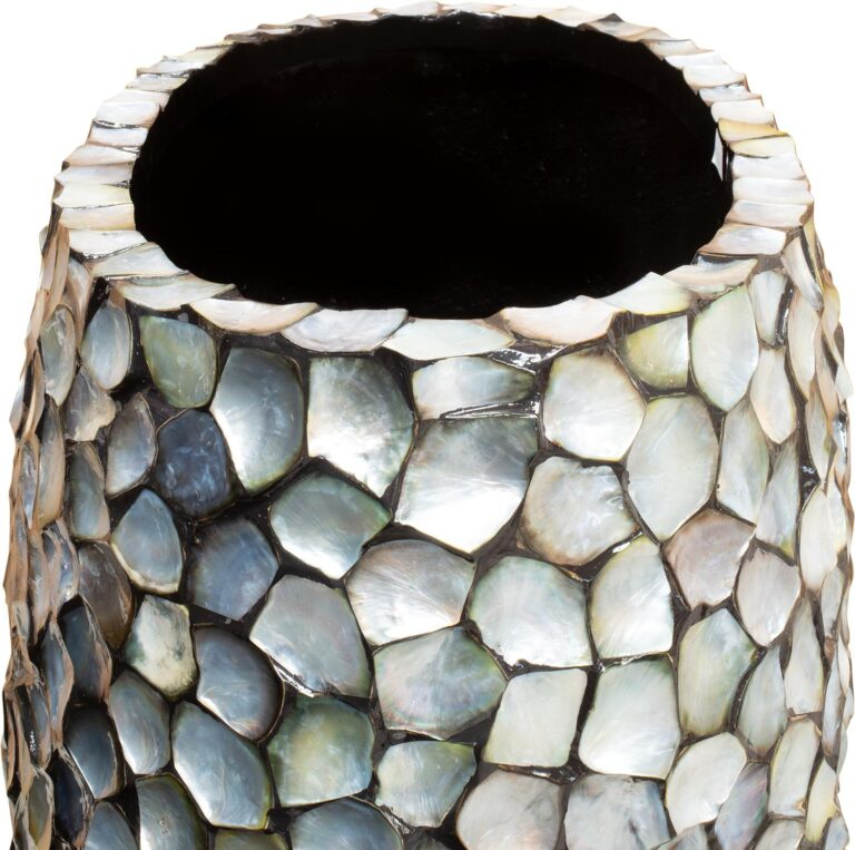 Shell Pinched Bowl Planter Silver-Blue 90x40x100cm Lifestyle2