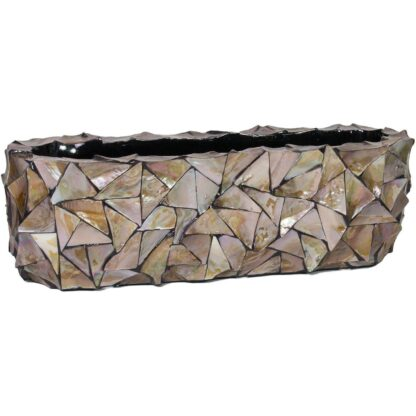 Shell Table Planter Brown 60x15x18cm