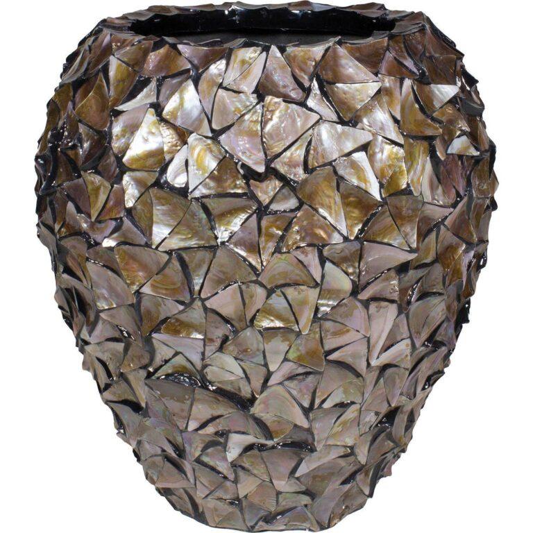 Shell Vase Planter Brown 74x80cm