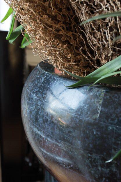 Stone Mosaic Bowl Planter Black 50x28cm Lifestyle4