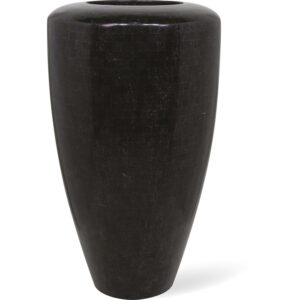 Stone Mosaic Conical Planter Black 60x110cm
