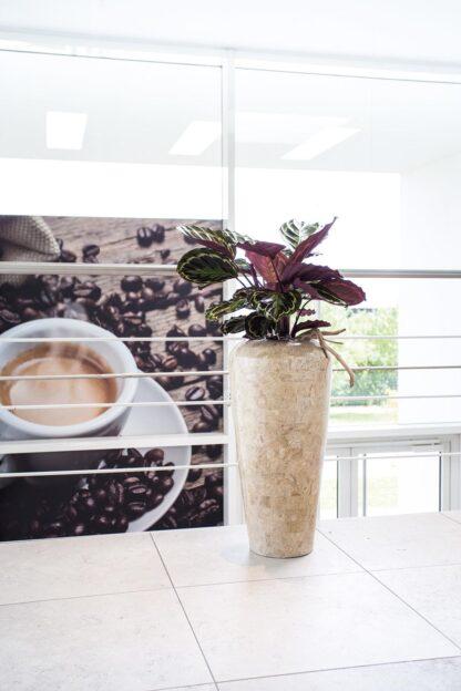 Stone Mosaic Vase Planter Cappuccino 35x72cm Lifestyle1
