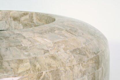 Stone Mosaic Vase Planter Cappuccino 35x72cm Lifestyle3