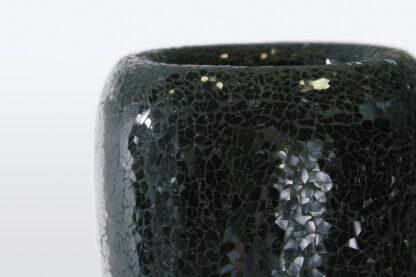 Glass Mosaic Standard Black Planter 52x87cm Lifestyle2