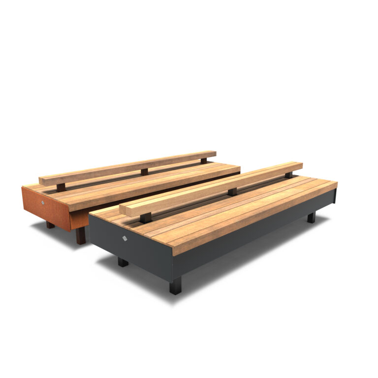 Aros Benches by Furns Full Backrest 230x99x60cm