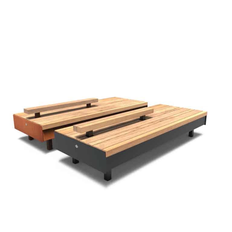 Aros Benches by Furns Half Backrest 230x99x60cm
