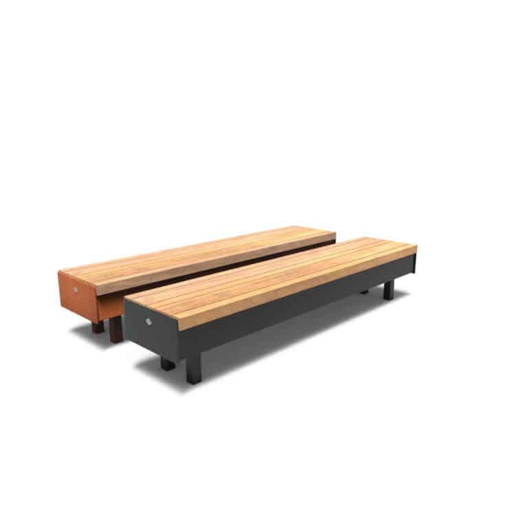Aros Benches by Furns No Backrest 230x56x60cm
