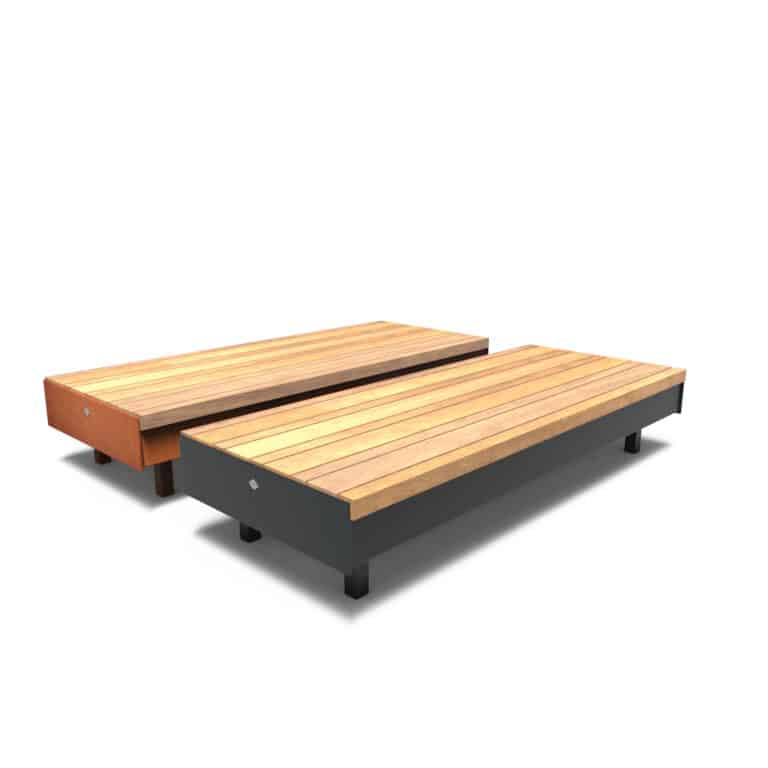 Aros Benches by Furns No Backrest 230x99x60cm
