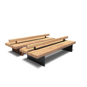 Borg Benches by Furns Beam Backrest 230x80x60cm