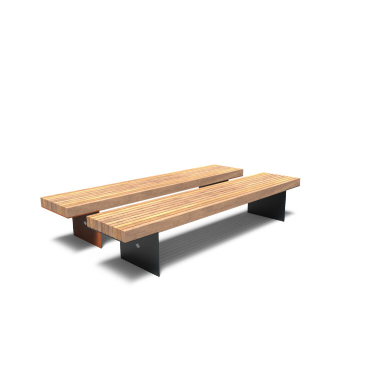 Borg Benches by Furns No Backrest 230x49x60cm