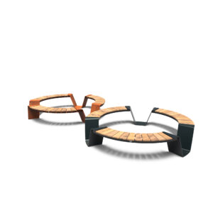 Dunc Round Benches by Furns 230x45cm