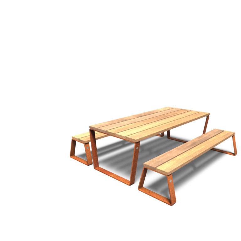 Corten Steel Mio Picnic Set-up by Furns1