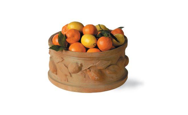 Citrus Round Planter Terracotta1