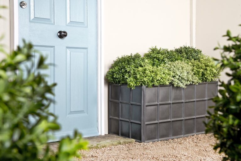 Downing Street Trough Planter in Faux Lead Lifestyle1