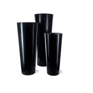 Geo Conical Planter Black Three Sizes1