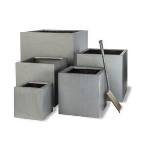 Geo Cube Planter Aluminium Five Sizes1