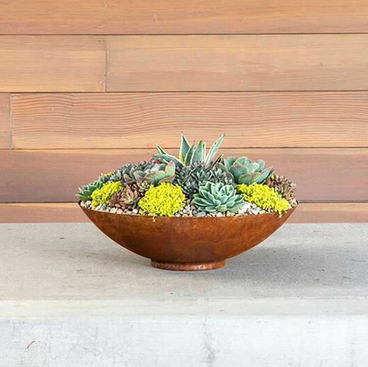 Corten Steel Planting Bowl