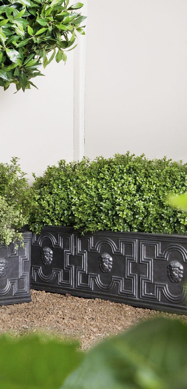 Elizabethan Trough Planter in Faux Lead Lifestyle2