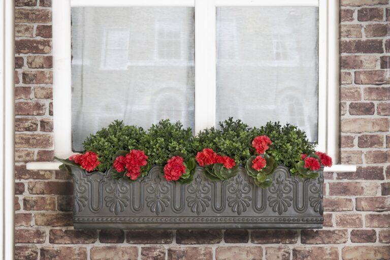 Florentine Window Box in Faux Lead Lifestyle1