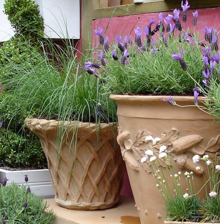 Lattice Planter in Terracotta Lifestyle1
