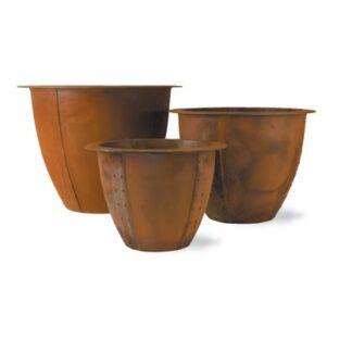 Norman Planter in Corten Steel Three Sizes1