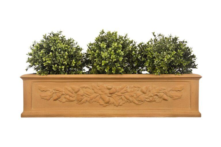 Oakleaf Window Box in Terracotta Lifestyle2