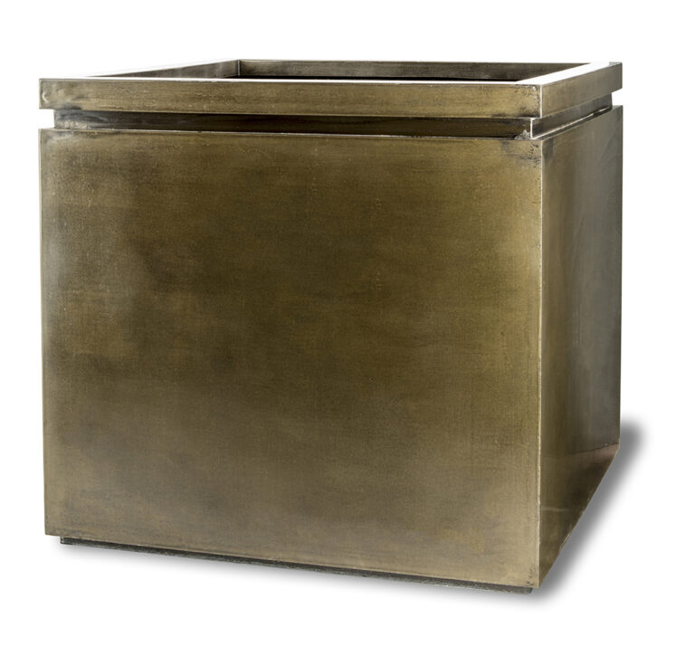 Pall Mall Box Planter in Antique Brass