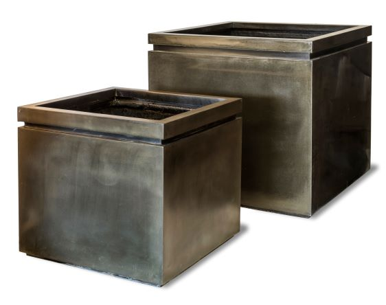 Pall Mall Box Planter in Antique Brass Two Sizes