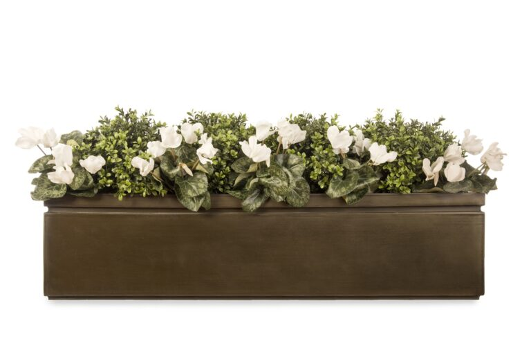 Pall Mall Window Box in Antique Brass Lifestyle1