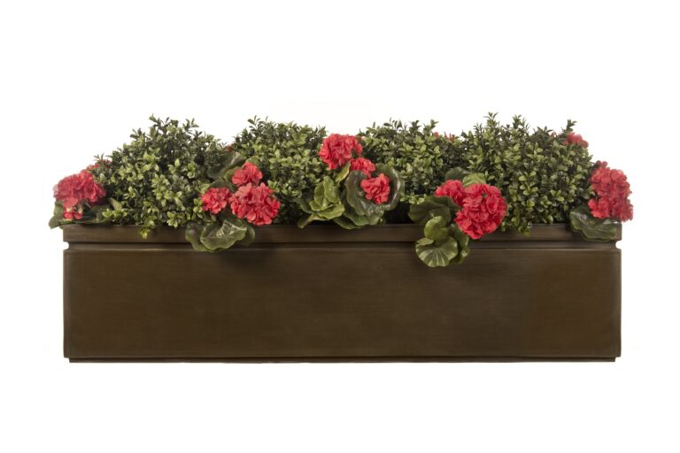 Pall Mall Window Box in Antique Brass Lifestyle2
