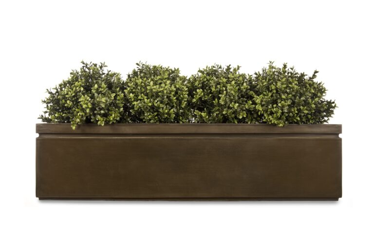 Pall Mall Window Box in Antique Brass Lifestyle3