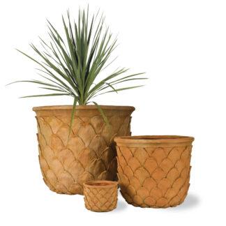Pineapple Pot in Terracotta Three Sizes