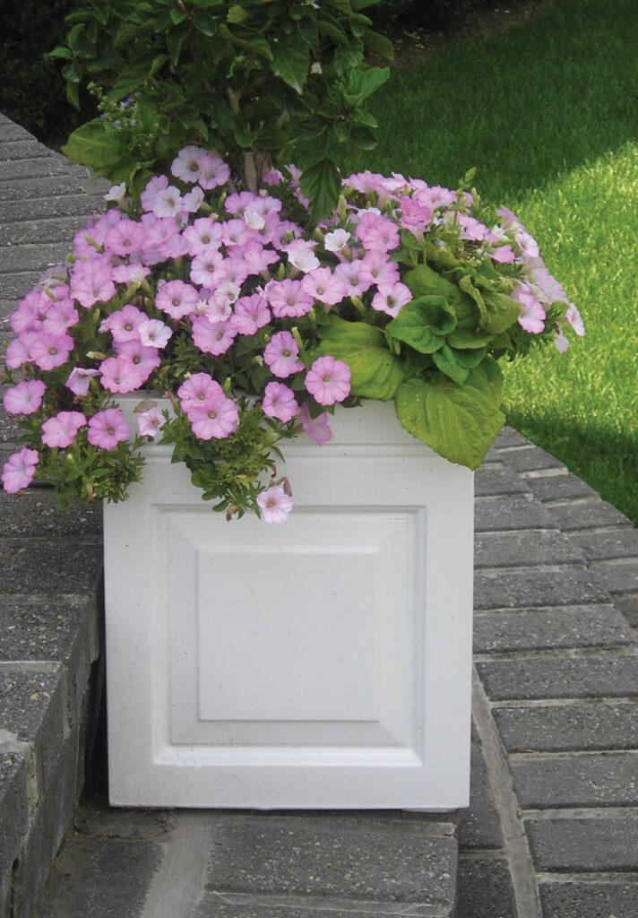 Sloane Box Planter in White Lifestyle2